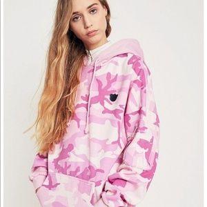 NWT Nicopanda Urban Outfitters Pink Camo Hoodie L